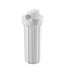 "Carcaça Branca p/ Filtros de Água 2,5""X9.3/4"" - Rosca 3/4"""